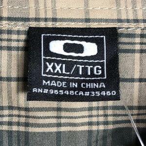 Oakley Shirts - Oakley Plaid Short Sleeve Button up Shirt XXL 2XL